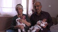 Uşak'ta 55 yaşındaki çiftin ikiz mutluluğu