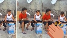 Kısıtlı imkanlarla müzik yapan çocuklar