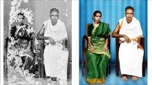 Eski fotoğrafı photoshopla restore etti
