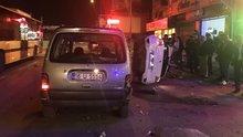 2 kişinin ağır yaralandığı feci kaza kamerada