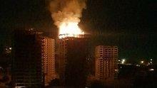 Ankara'da inşaatta yangın paniği