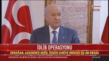 Devlet Bahçeli'den İdlib açıklaması