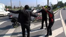 TEM Otoyolu'nda trafiği tehlikeye sokup böyle göbek attılar