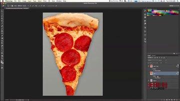 Pizza diliminden kadın çizdi