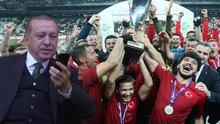 Cumhurbaşkanı Erdoğan'dan, Ampute Milli Takımı'na tebrik telefonu