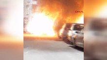 Kağıthane'de LPG'Lİ araç bomba gibi patladı