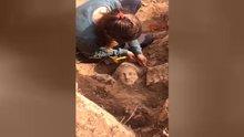 Isparta'da 'Men Kutsal Alanı'nda 5 tanrı heykeli bir arada bulundu
