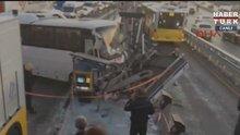Metrobüs yolunda kaza! Seferlerde aksamalar yaşanıyor
