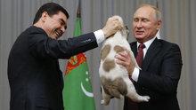 Türkmenistan lideri, Putin'e köpek hediye etti