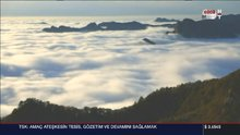 Çin'de görülen bulut denizi büyüledi