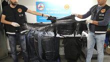 Havalimanında kaçak yılan ve timsah derisi operasyonu