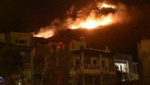 Bodrum'da yangın! Evlere 100 metre kaldı