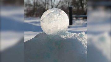 Köpüğün saniyeler içinde donması böyle görüntülendi