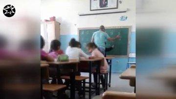 """""""D"""" harfini yazamayan öğrenciye öğretmenden dayak"""
