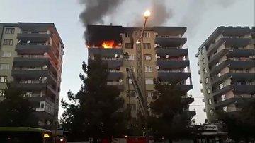 Diyarbakır'da bir apartmanın 7. katında yangın çıktı