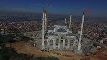 """Çamlıca Camisi inşaatının yüzde 90'ı tamamlandı! """"Fetih Suresi"""" yazılacak"""