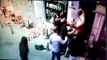 Kadıköy'deki sandalyeli kavga kameralarda