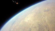 Liseliler 'Yüksek irtifa balonu' ile uzaydan görüntü çekti