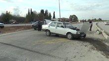 AK Parti Denizli Milletvekili Şahin Tin'in otomobili kaza yaptı