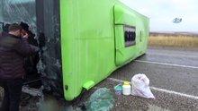 Diyarbakır'da yolcu otobüsü devrildi