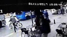 Hafriyat kamyonu bisikletli kişiyi ezdi
