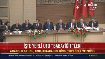 Cumhurbaşkanı Erdoğan ilk yerli otomobili üretecek 5 firmayı açıkladı