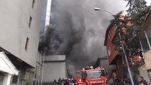 Maltepe'de oto servisinde yangın