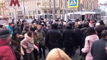 Moskova karıştı! 280 gözaltı