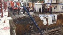 Kadıköy'de beton mikserinin borusu patladı