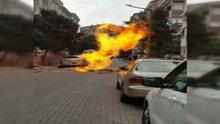 Avcılar'da kazı çalışması sırasında doğalgaz borusu patladı