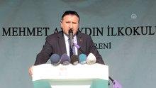 Spor Bakanı Osman Aşkın Bak Mehmet Ayaydın İlkokulu açılışında konuştu