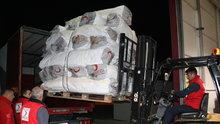 Erzincan Kızılay'dan Irak'a 3 TIR yardım malzemesi