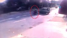 Genç çiftin feci motosiklet kazası kamerada