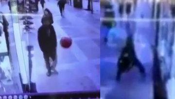 Balona rövaşata çeken adam böyle düştü!