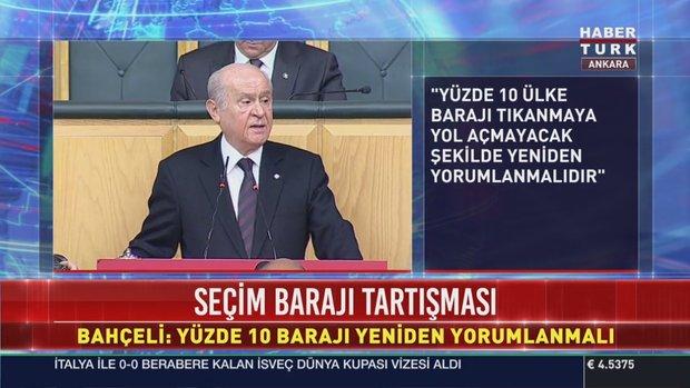 Devlet Bahçeli'den AK Parti ile işbirliği ve seçim barajı açıklaması