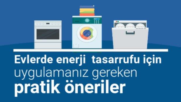 Evlerde enerji  tasarrufu için uygulamanız gereken pratik öneriler