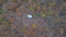 Belgrad Ormanı'ndaki kumar çadırı drone ile görüntülendi