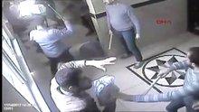 Avukat bürosundan çıkan Muhtar ve 3 Azaya saldırı güvenlik kamerasında