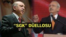 """Erdoğan ve Kılıçdaroğlu arasında """"SGK"""" polemiği"""