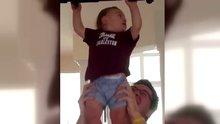 Bebeklerin en baba sporu!