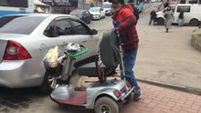Engelli vatandaşın azmi kazandı