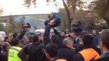 Bakan Özhaseki'nin korumaları ile güvenlik görevlileri arasında tartışma