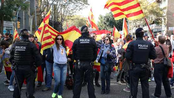 Katalonya sokakları gergin