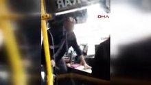 Bıçak çıkartan otobüs şoförü kamerada!
