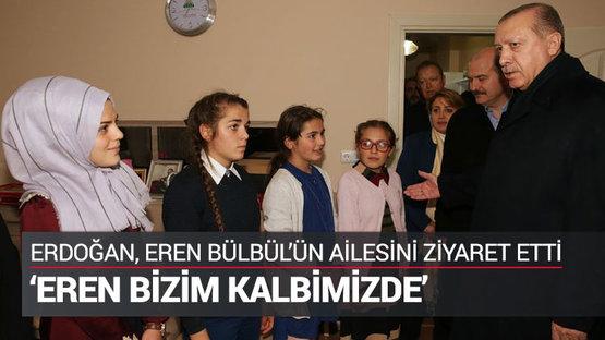 Cumhurbaşkanı şehit ailesini ziyaret etti