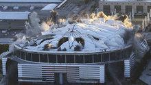 Dev stadyum saniyeler içinde yıkıldı!