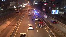 Mecidiyeköy'de zincirleme kaza! E-5 trafiğe kapandı