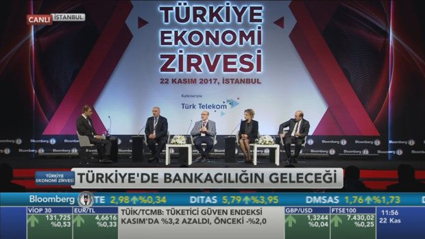 Bloomberg HT Ekonomi Zirvesi'nde 'Türkiye'de Bankacılığın Geleceği Oturumu'