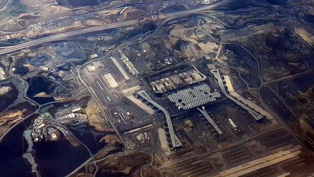 Yapımı süren Yeni Havalimanı'nın son hali uçaktan görüntülendi