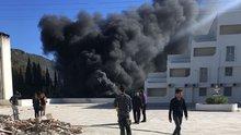 Muğla'da okulda yakıt tankında patlama
